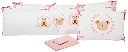 Kit Berço Baby Bear Menina com 5 Peças, Hug, Rosa, U