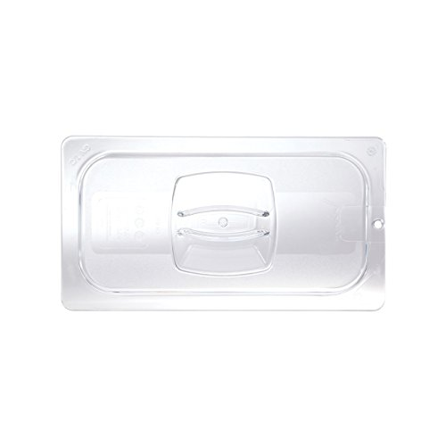 """Rubbermaid Commercial Products FG121P23CLR Cold Food Pan Cover with Peg HoleCLR, 1/3"""" Size (Pack of 6)"""