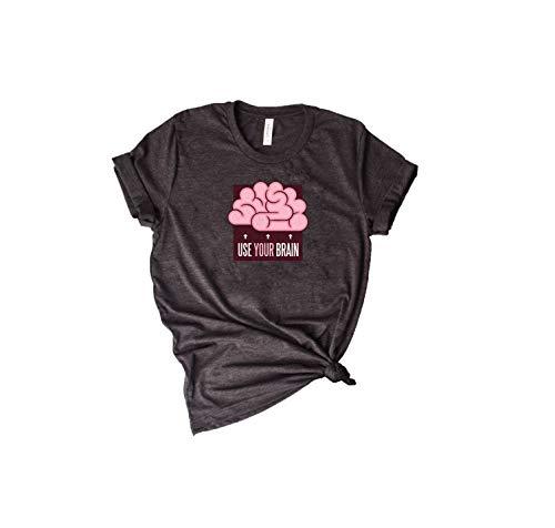 Usa tu camisa de cerebro, divertida camisa de cerebro, camisa inteligente,...