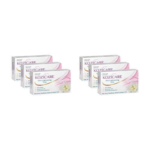Kozicare Kojic Acid, Vitamin E, Arbutin Skin Lightening Soap, 75g (Pack of 6)