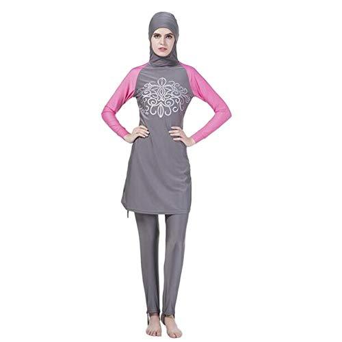 costume da bagno donna araba Estate 2 Pezzi Modestia Copertura Completa Tappo in Un Rapporto Giovane Abiti delle Donna Islamiche Musulmane Burkini Costume da Bagno Medio Oriente Arabo Hijab Costumi da Bagno Malesia Protezione