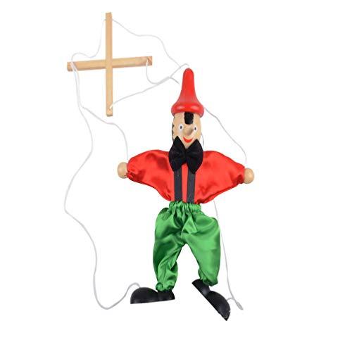 TOYANDONA Tirar de Juguetes de Marionetas de Cuerda   Marioneta de Madera Muñeca Juguetes Payaso Juguete Cumpleaños Regalo