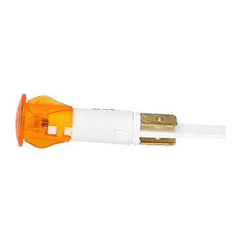 LUTH Premium Profi Parts Universal Kontrolllampe gelb rund 14mm Ø 1-polig 230 Volt Herd Kochfeld