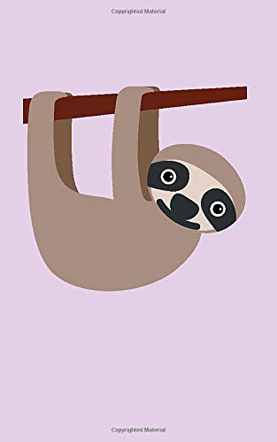 Sloth Emoji Notebook: Softcover lined notebook/journal