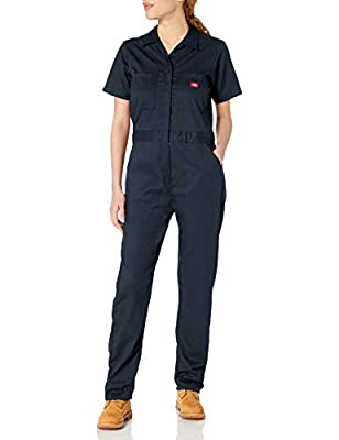 Dickies Women's Short Sleeve Flex Coverall, Dark Navy, Large