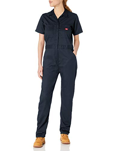 Dickies Women's Short Sleeve Flex Coverall, Dark Navy, X-Small