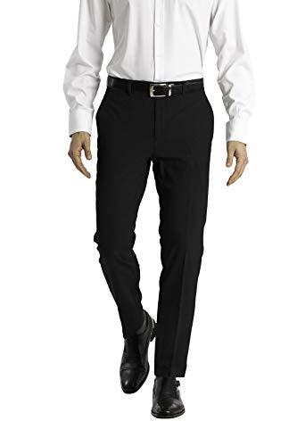 Calvin Klein Men's Skinny Fit Stretch Dress Pant, Black, 3330