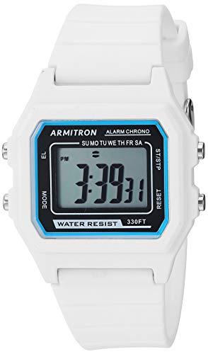 Armitron Sport Unisex Digital White Silicone Strap Watch, 40/8447WHT