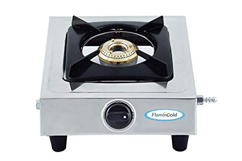 Flamingold Single Burner Gas Stoves 1 Stainless Steel LPG Cooktop Manual Ignition Chulha 24