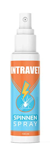 Saint Nutrition Intravet - Anti Spinnen Spray, Hochwirksam zum vertreiben für Innen & Aussen - Mittel zum Spinnen vertreiben - Anti Spinne Ungeziferspray zur Spinnenabwehr - Spinnenspray 100ml