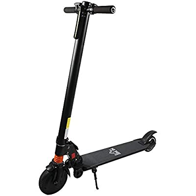 HOMCOM Electric Scooter 250W Power 3-Level Adjustable Speed Up to 12 km/h Light Rubber Wheel For Adult Town and City Commuter - Black