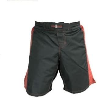 short de boxe tha/ï Coup de pied Shorts De Boxe Devoir Heavey Satin Soie K1 style Muay Thai MMA UFC rouge conception de flammes