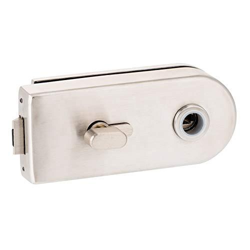 Glastürschloss D WC | V2A Edelstahl matt | metallische Innenmechanik (einwärts öffnend)