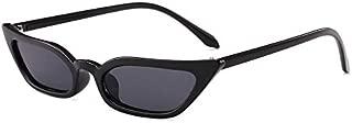 Sunglasses Fashion Accessories Cat Narrow Sunglasses Cool Dance Parties UV (Color : Black)