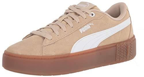 PUMA Zapatillas Smash para mujer, beige (Caqui pálido puma Blanco), 40 EU