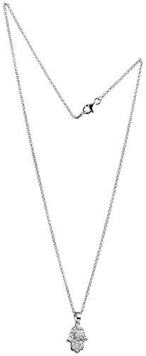 Nenalina Damen Halskette aus 925 Sterling Silber mit Hand der Fatima Anhänger 45cm lang