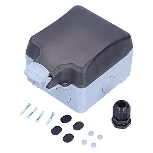Toma de corriente para exteriores, toma de corriente para exteriores Toma de corriente de 6 agujeros Caja de alimentación Receptáculo de pared Impermeable IP66 127V 250V 15A