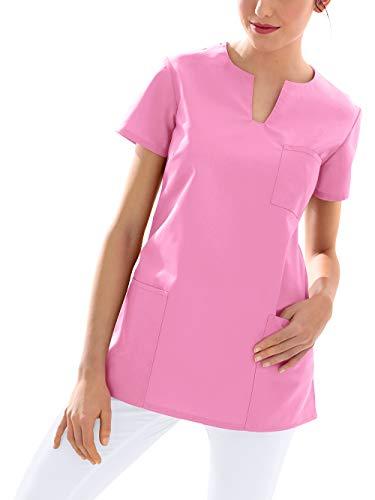 CLINIC DRESS Schlupfkasack Kasack Damen für Krankenpflege und Altenpflege 95 Grad Wäsche Rosy pink L