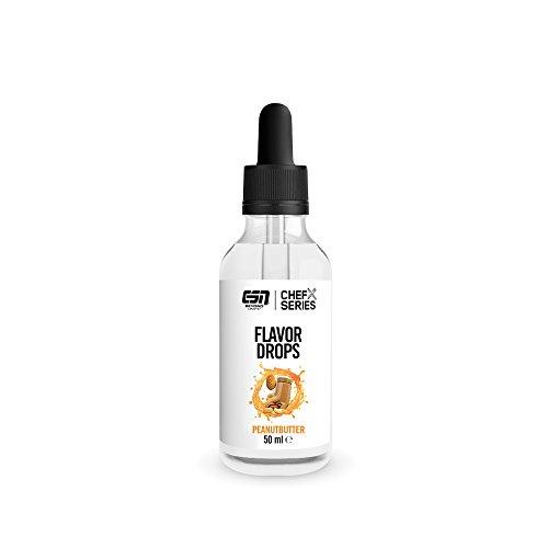 ESN Flavor Drops – 50ml – Peanut Butter – Kalorienfreie Aromatropfen – Vegan – Made in Germany