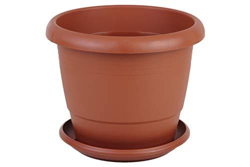 Maceta Color marrón   Modelo Gardenia   Dimensiones 35x28.8 cm + Plato 28 cm   Venta unitaria