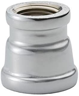 Chrome Plated Brass Pipe Fitting 1-1/2 X 3/8 Reducing Coupling Npt Female - Pkg Qty 10, (Sold in packages of 10)