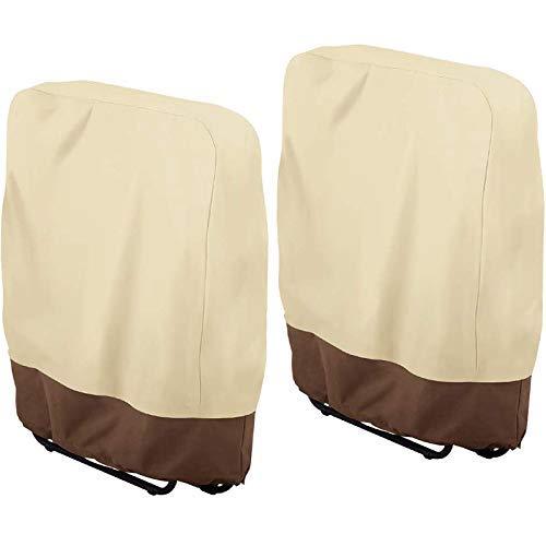 GUOCAO 2PCS Outdoor Folding Reclining Chair Cover 190T Waterproof Veranda Zero Gravity Outdoor Folding Chairs Cover Garden Sunbed Sun Lounger Cover 93X82CM
