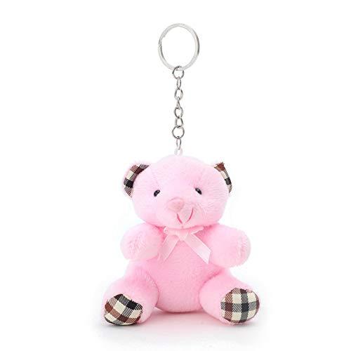 N / A 1PC 10CM Niedliche Teddybären Plüschtiere Kuscheltiere Flauschige Bärenpuppen Tasche Schlüsselbund Autoschlüsselhalter für Anhänger Puppe Geschenk 10CM