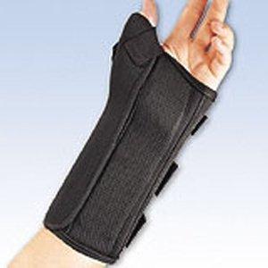 BSN Medical FLA 22-460MDBLK Pro Lite Wrist Splint with Abducted Thumb for Right, Black, Medium