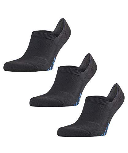 FALKE Unisex Füßlinge Cool Kick Invisible 3-pack - Funktionsfaser, 3 Paar, Schwarz (Black 3000), Größe: 39-41