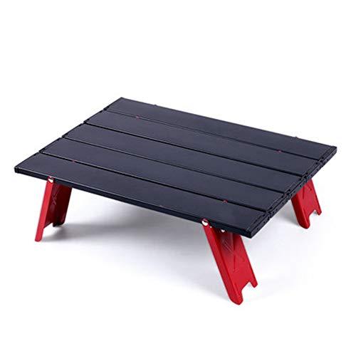 Kleine opvouwbare campingtafel Draagbare strandtafel in een tas, met opvouwbaar aluminium tafelblad en draagtas om te eten en te koken, picknick, barbecue, strand en buiten