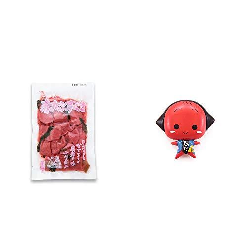 [2点セット] 赤かぶすぐき(160g)・さるぼぼ アニメ顔 マグネット