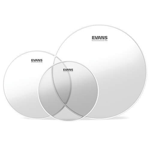 Evans ETP-G2CLR-F G2 (Clear) Fusion Tom Pack 25,4 cm (10 Zoll), 30,4 cm (12 Zoll), 35,5 cm (14 Zoll)Felle
