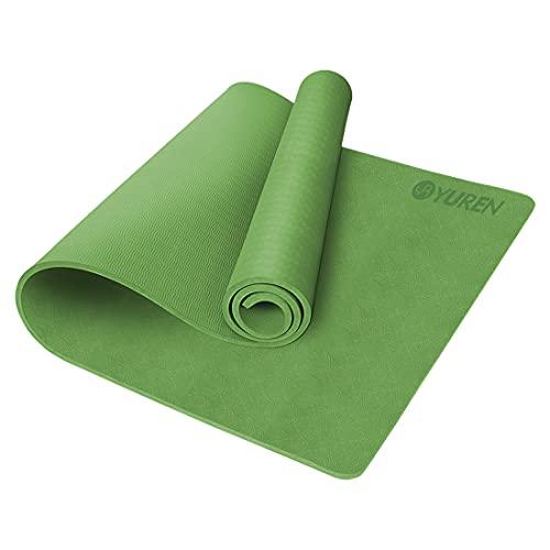 RYTMAT Colchoneta de Yoga Grande 195×90×1cm Extra Ancho Alfombras Fitness Antideslizante TPE Esterillas Deporte para Pilates, Fitness, Gimnasio