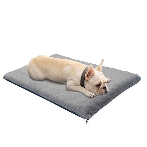 Moslate Cama de Espuma viscoelástica para Mascotas, Cama de Masaje para Mascotas con Funda Desmontable, colchón para Mascotas de Calentamiento automático con Fondo Antideslizante para Perros pequeños