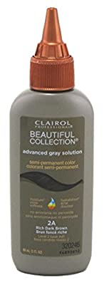 Clairol Beautiful Ags Collection 2A Rich Dark Brown 3 Ounce (88ml) (3 Pack)