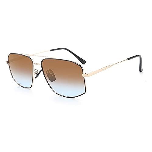 Anti-UV Gafas De Sol para Hombres Moda, Marco De Gafas ProteccióN para ConduccióN Gafas De Deportes Al Aire Libre De Pesca De Moda Regalo De San ValentíN (Color : Tea)