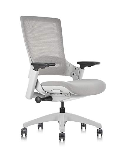 CLATINA Ergonomic High Swivel Executive Chair with Adjustable Height 3D Arm Rest Lumbar Support and Mesh Back for Home Office Gray