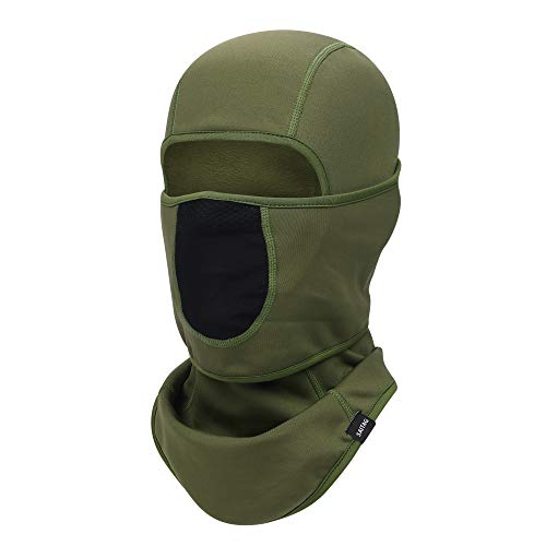 SAITAG Balaclava Ski Mask Warm Face Mask for Cold Weather Winter Skiing Snowboarding Motorcycling Ice Fishing Men (Army Green)