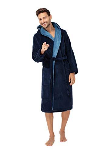Envie - Albornoz - para Hombre Azul Marino Medium