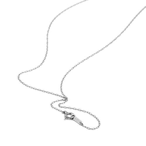 [ルビイ] プラチナ Pt850 ロング小豆 チェーン ネックレス 幅1.0mm 長さ60cm