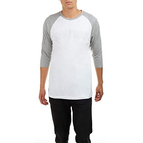 Zoo York Herren Core Arch T-Shirt, Grau (Grey Heather/White Ghw), (Herstellergröße: Large)