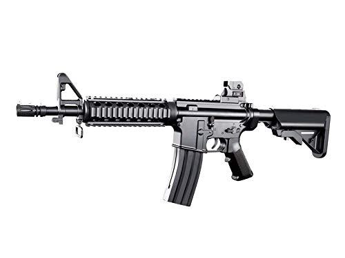 Softair Gewehr Rayline 8907 (Manuell Federdruck), Material: ABS (Stoßfest), Nachbau im Maßstab 1:1, Länge: 76cm, Gewicht: 1150g, Kaliber: 6mm, Farbe: Schwarz - (unter 0,5 Joule - ab 14 Jahre)