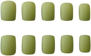 JINDIN 24 Sheet Short Matte Fake Nails with Design Square False Nail Full Cover Acrylic Press On Nails for Women