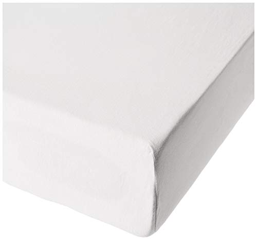 HonestBaby Organic Cotton Fitted Crib Sheet, Bright White, One Size