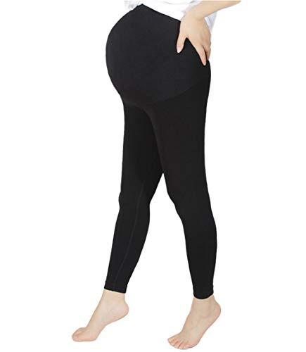MISS MOLY Leggings de Maternidad para Embarazadas Mujer Mallas Leggins de Premamá Ropa Interior Pantalones de Elástico Cómodo y Suave