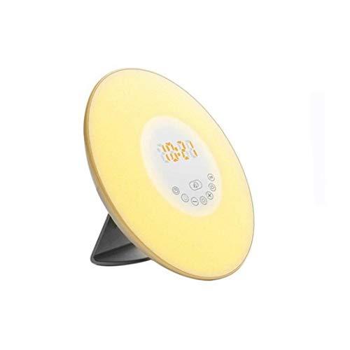 Yoyakie Wake-up-licht-wecker, Sonnenaufgang Simulation 2 Natürliche Sounds Radio & Leselampe Tippen Snooze Eu-stecker