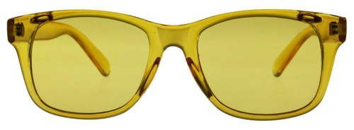 Sale!! Colored Lens Color Therapy Glasses - Classic Style (Yellow)