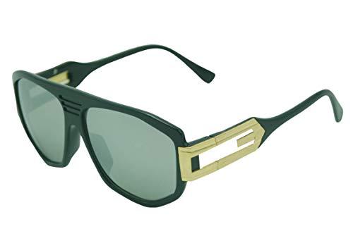Dasoon - Gafas de sol Cz4 negro y oro espejo