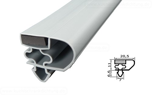 Magnetdichtung Profil groß E - 2000mm inkl. Magnetband - Farbe: Grau (Kühlschrankdichtung)