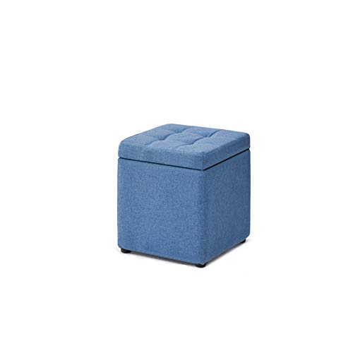 DISS Troncos de Almacenamiento, Taburete de Almacenamiento, Taburete Plegable Acolchado, Cofre de Almacenamiento Plegable Cuadrado, 40 * 40 * 40 cm (Color : C)